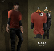 [MSN Design] Ron Outfit [BLACK-RED]