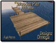 Wooden Mesh Pier style 2