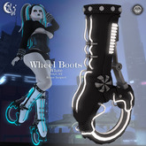 *NW* White/Black Wheel Boots