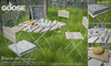 GOOSE - Garden cafe natural wood bistro set