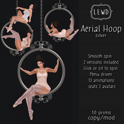 : Lewd :  Aerial Hoop (Silver)  Circus, Carnival