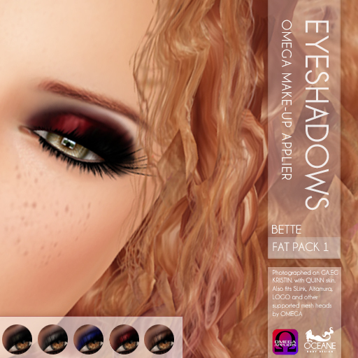 Oceane - Bette Eyeshadows Omega - Fat Pack 1