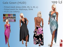-JL- Gala Gown (HUD) for Maitreya, Slink, Classic and more