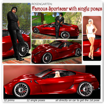FAMOUS Sportscar Prop with  Single Poses