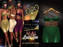 ORO - Mal Braided Dress - Money Green