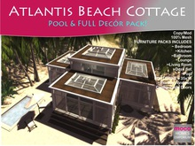 MOCO Emporium ~ Atlantis MESH Beach Cottage Plus Full Furniture Pack - Save Over 30% - Low Land Impact