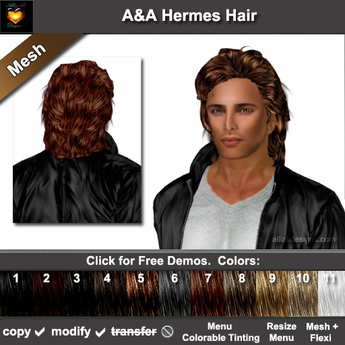 Super Second Life Marketplace Aa Hermes Hair 11 Colors Variety Pack Schematic Wiring Diagrams Amerangerunnerswayorg