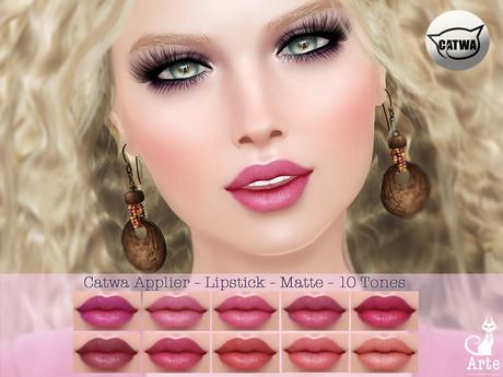 Arte - Catwa Applier - Lipstick - Matte - 10 Tones