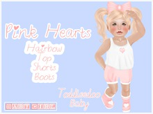 (Baby Girl) Pink Hearts Baby Outfit