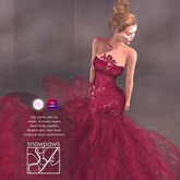 Snowpaws - Radieux Evening Gown - Red Lace