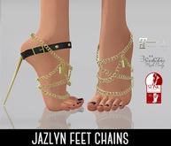 SUMMER SALE - ILLI - [SLink,Maitreya,Belleza] Jazlyn Feet Chains (HUD Driven)