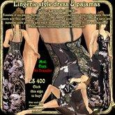 Wunderlich's lavender Lingerie style dress & pajamas