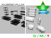 KUBRIC FLUX - Alaska - Black & White Glass - 15 Furnishings