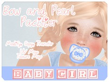 Bow & Pearl Pacifier Mesh Full Perms