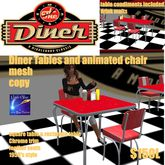 Diner Table & Chair Set animated share malt (crate)
