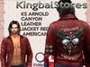 KS ARNOLD CANYON LEATHER JACKET RED AMERICAN