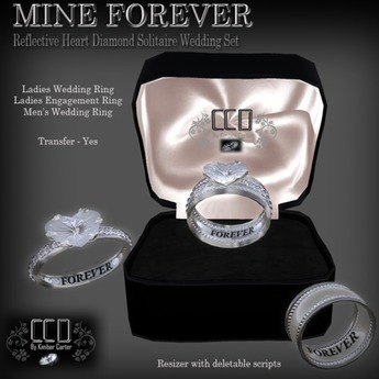 Second Life Marketplace Ccd Mine Forever Wedding Rings Bridal