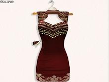 Pao Dress (W/HUD) Slink-Belleza-Maitreya-FitMesh .:Eclipse:.