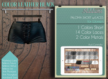 Addams - Paloma - Shorts with Laces - Leather Black