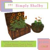 Spring Collection - Vintage Steamer Trunk Flower Planter