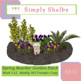 Springtime Boarder Garden w/kitten
