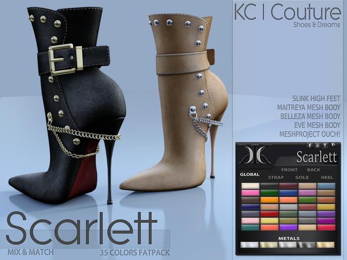 -KC- SCARLETT BOOTS / MAITREYA, BELLEZA, SLINK, TMP, EVE