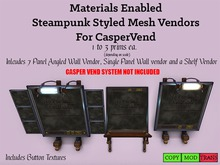 Materials Enabled Steampunk Vendor Frames For CasperVend