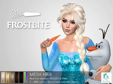 rezology Frostbite (RIGGED mesh hair) Gift-SK - 2962 complexity