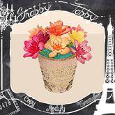 *Shabby* Bucket Of Roses