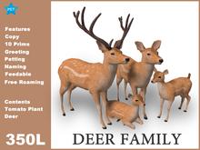 [TomatoPark] Deer Family Mesh ( roaming, animate, feedable, copy )