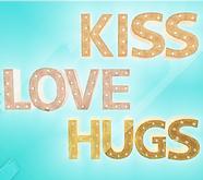 *Shabby* Hugs Kiss Love Signs