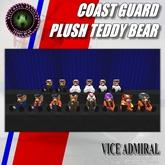 MD Coast Guard Teddy Bear Plush Series - VADM
