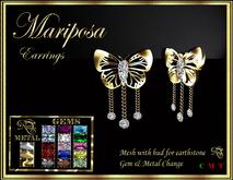 RJ Mariposa (butterfly) Earrings - mesh