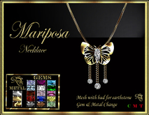 RJ Mariposa (butterfly) Necklace - mesh