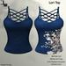 DE Designs - Lori Top - Blue