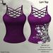 DE Designs - Lori Top - Purple