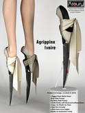 AZOURY - Agrippina Ballet Shoes [Ivoire]