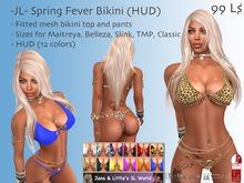 -JL- Spring Fever Bikini (HUD) for Maitreya, Belleza, Slink, TMP, Classic