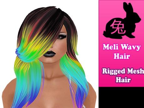 Meli Wavy Hair rainbow