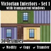 Victorian Interior Textures - Set 1  - with Transparent Windows