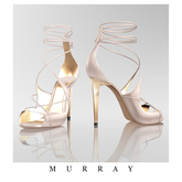 MURRAY- Raquel Laced Sandals / Pearl