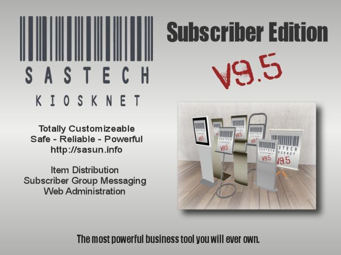 SasTech KioskNet Subscriber Edition