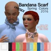 Bandana Scarf Spring Colors 2016 Unisex