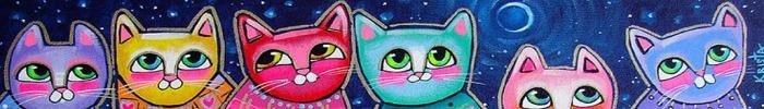 Colorful kitties illustration
