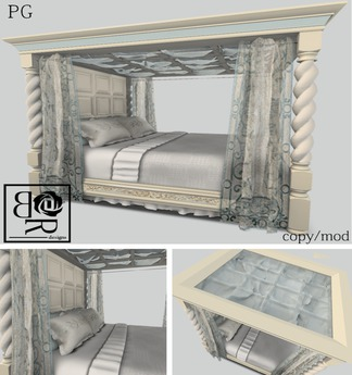 [BR] Majestic Canopy Bed Blu PG