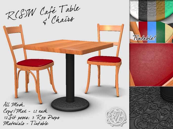 R(S)W Café Table & Chairs