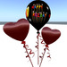 Happy Rez Day Balloon with 2 heart shaped balloons