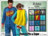 [Phunk] Mesh Fleece Pajamas with Cape (12 colors)