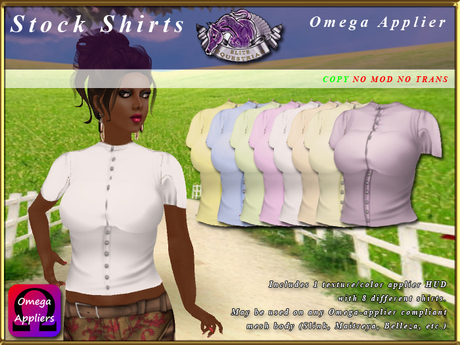 *E* Stock Riding/Show Blouses - Ladies -  Omega Applier [BOXED]
