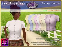 *E* Stock Riding/Show Blouses - Ladies -  Omega Applier [BOXED]
